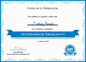 GFI EndPointSecurity Training Level 100